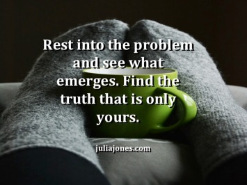 Rest can bring truth