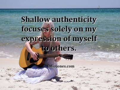 Wanting everyone to be authentic?