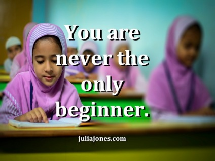 There is no shame in being a beginner